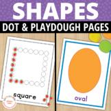 Shape Play Dough Mats and Dot Cards