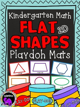 Shape Playdoh Mats for Kindergarten Math