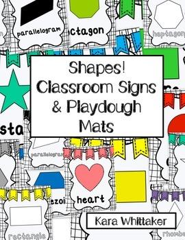Shape Classroom Signs & Playdough Mats