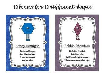 Shape Poem Posters & Mini Books