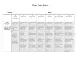 Shape Poem Rubric
