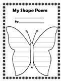 Shape Poem Template - Butterfly