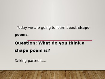 Shape Poetry Presentation