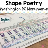 Shape Poetry   Washington DC   4th of July   Template   Monuments