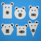 Shape Polar Bear Craft / Shape Unit / Winter Craft