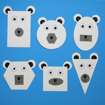 Winter Craft - Polar Bear Craft - Shape Polar Bear - Shape Unit