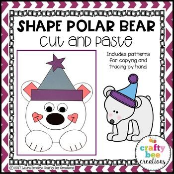 Shape Polar Bear Cut and Paste