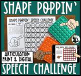 Shape Poppin' Speech: Pop it Articulation Toy Companion fo