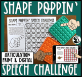 Shape Poppin' Speech Pop it Articulation Speech Therapy To