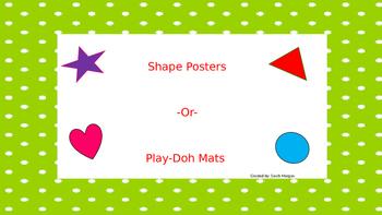 Shape Poster/ Play-doh mat