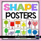 2D Shape Posters Kindergarten