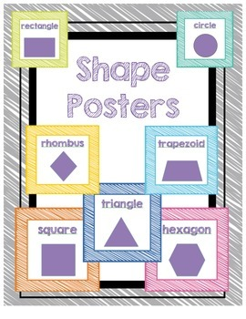 Shape Posters - Crayon Scribble