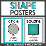 Shape Posters Teal/Gray
