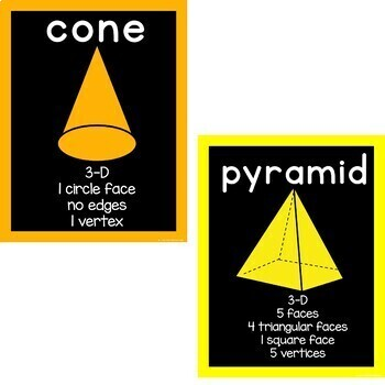 Bright Shape Posters in Neon and Black