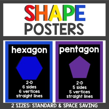 Shape Posters in Black and Primary colors
