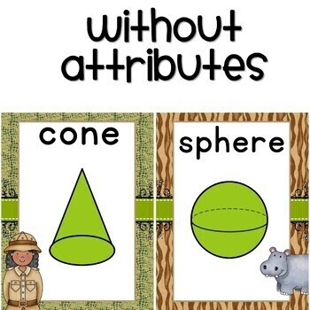 Safari Classroom Decor / Shape Posters