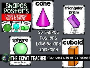 Shapes: Posters and Flashcards