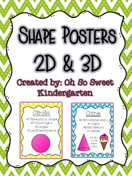 Shape Posters 2D & 3D Chevron Theme
