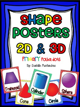 Shape Posters 2D & 3D {Primary Polka Dots}