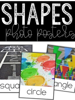 Shape Posters: 2D & 3D Shapes Real-Life Photos