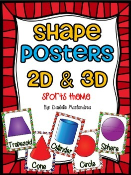 Shape Posters 2D & 3D {Sports Theme}