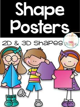 Shape Posters-2D & 3D shapes-White series