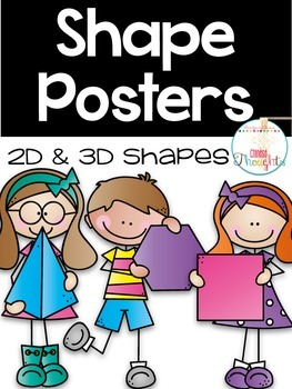 Shape Posters-2D & 3D shapes-White series