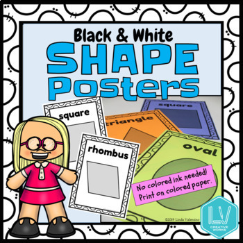 Shape Posters - 2D Black & White