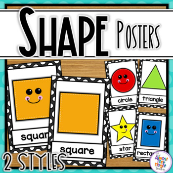 Shape Posters 2D - Black and White Polka Dot theme