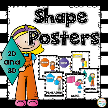 Shape Posters { 2D and 3D}