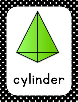 Shape Posters, 2D and 3D shapes, Kindergarten First Polka dot