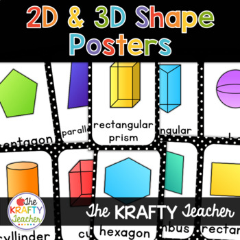 Back to School - Shape Posters - 2D and 3D  PolkaDot Theme
