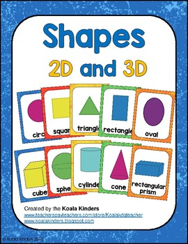 Shape Posters 2D and 3D - Happy Caterpillar Colors
