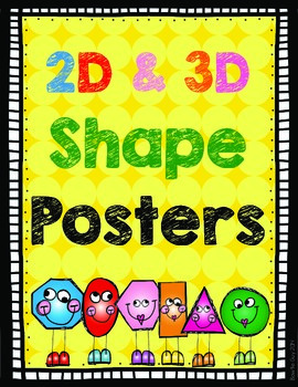 Shape Posters {2D and 3D Included!}