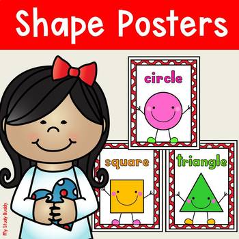 Shape Posters for Classroom Decor: 2D & 3D (Shape Posters for Kindergarten)