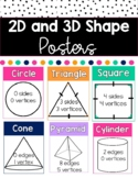 Shape Posters | 2D and 3D Shapes with Attributes