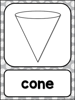 Shape Posters 2d and 3d MIX AND MATCH (GRAY Polka Dot Scribble)
