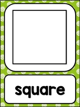 Shape Posters 2d and 3d MIX AND MATCH (LIME Polka Dot Scribble)