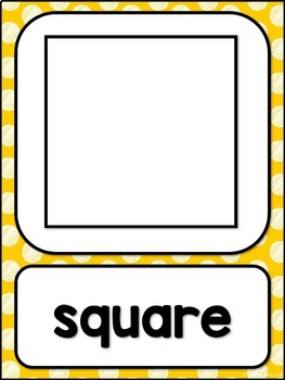 Shape Posters 2d and 3d MIX AND MATCH (MUSTARD Polka Dot Scribble)