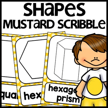 Shape Posters 2d and 3d MIX AND MATCH (MUSTARD Polka Dot S