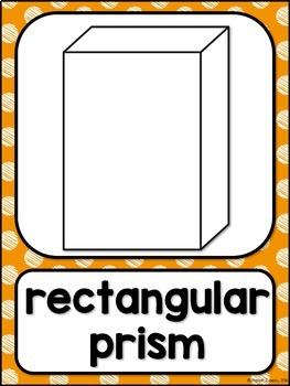 Shape Posters 2d and 3d MIX AND MATCH (ORANGE Polka Dot Scribble)