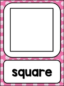 Shape Posters 2d and 3d MIX AND MATCH (PINK Polka Dot Scribble)