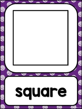 Shape Posters 2d and 3d MIX AND MATCH (PURPLE Polka Dot Scribble)
