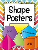 Shape Posters {3 Dimensional & 2 Dimensional}