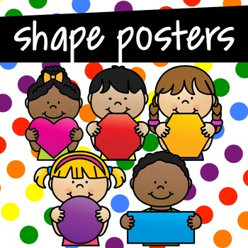 Shape Posters ~ Primary Rainbow Colors