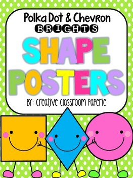 Shape Posters: {BRIGHTS} Chevron & Polka Dot