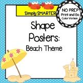 Shape Posters:  Beach Theme