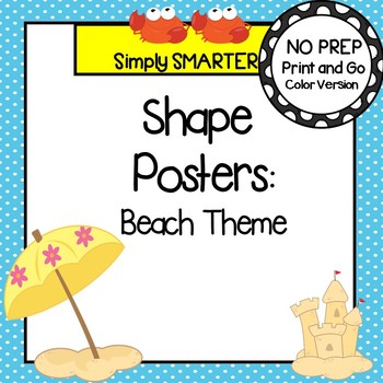 Shape Posters:  Beach Theme
