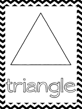 Shape Posters:  Black and White Chevron Border