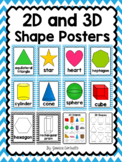 2-D and 3-D Shape Posters {Blue Chevron}
